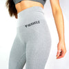 Merakilo Knitted Seamless Leggings - Heather Grey