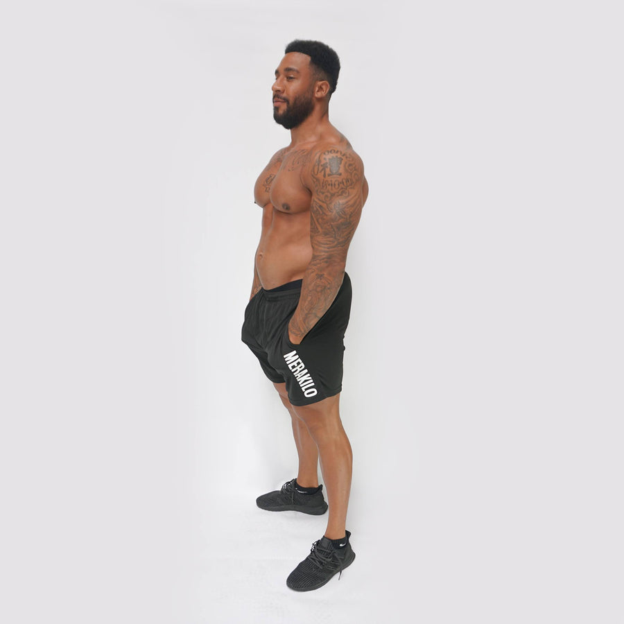 Merakilo Fitness Shorts - Black - merakilo