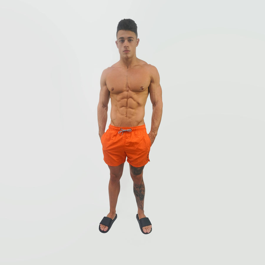 Merakilo Swim Shorts - Orange Crush - merakilo