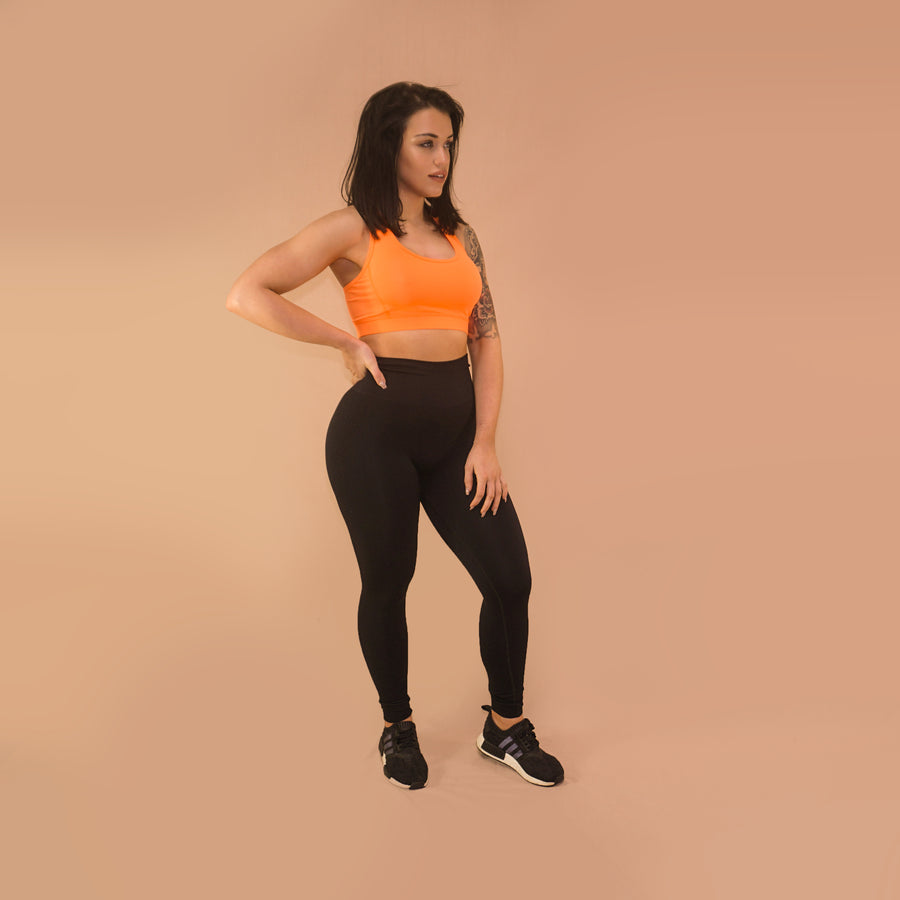 Sports Bra - Merakilo Crop Top - Tangerine