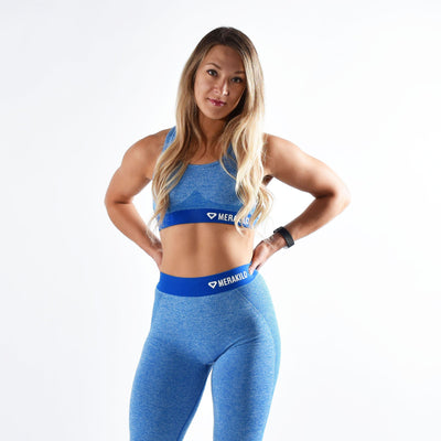 Sports Bra - Merakilo Fusion Seamless Sports Bra - Carbon Blue