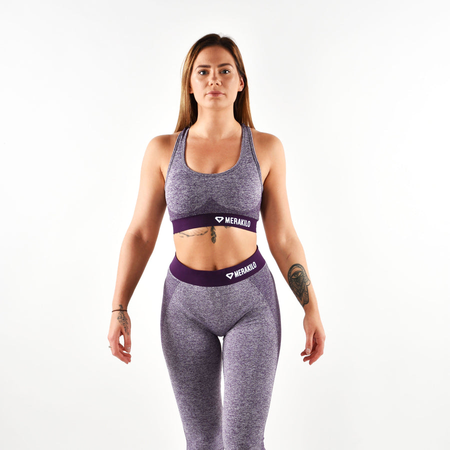 Sports Bra - Merakilo Fusion Seamless Sports Bra - Purple