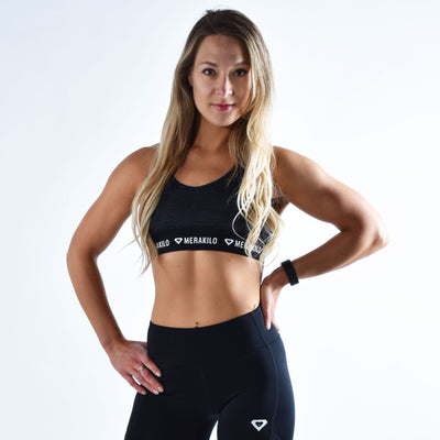 Sports Bra - Merakilo Ignite Seamless Sports Bra - Black
