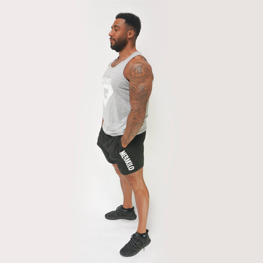 Merakilo Fitness Tank - Heather Grey - merakilo