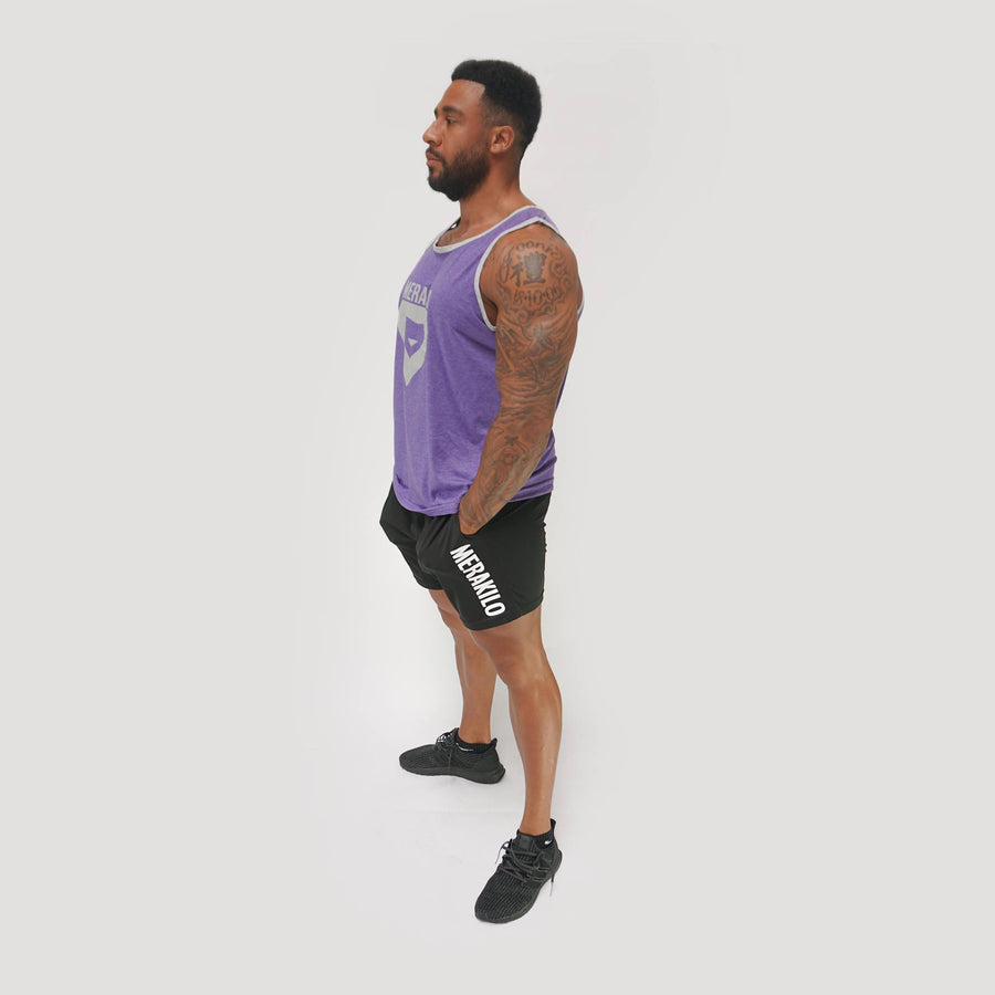 Merakilo Fitness Tank - Heather Purple - merakilo
