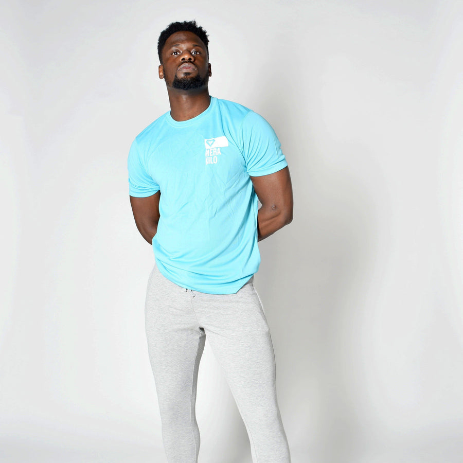 T-Shirts & Tops - Merakilo Men's Clip Tee - Baby Blue
