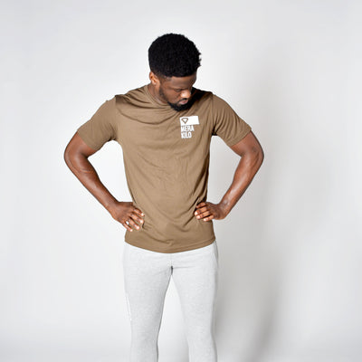 T-Shirts & Tops - Merakilo Men's Clip Tee - Chocolate Brown