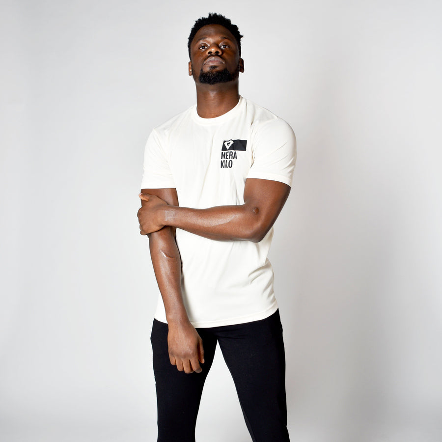 T-Shirts & Tops - Merakilo Men's Clip Tee - Ice White