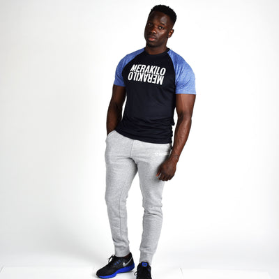 T-Shirts & Tops - Merakilo Men's Duel Tee - Blue/ Black