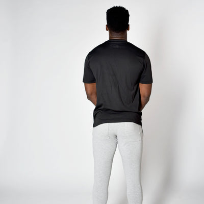 T-Shirts & Tops - Merakilo Men's Gradient Tee - Black