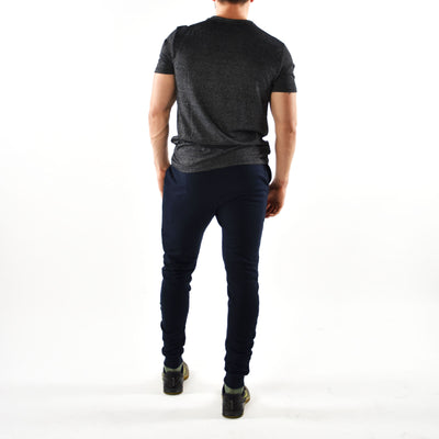 T-Shirts & Tops - Merakilo Men's Half Cut T-Shirt - Grey Marl