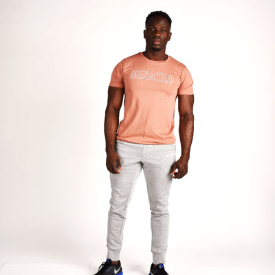 T-Shirts & Tops - Merakilo Men's Movement Tee- Apricot