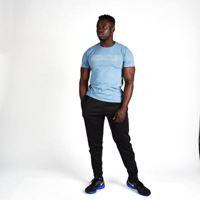 T-Shirts & Tops - Merakilo Men's Movement Tee- Baby Blue