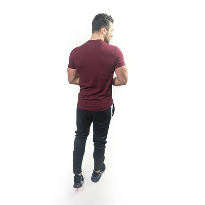 Merakilo Men's Section Tee - Burgundy - merakilo