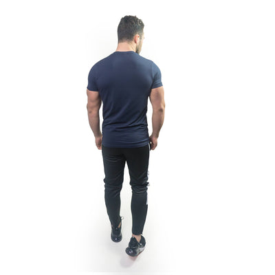 Merakilo Men's Section Tee - Navy - merakilo