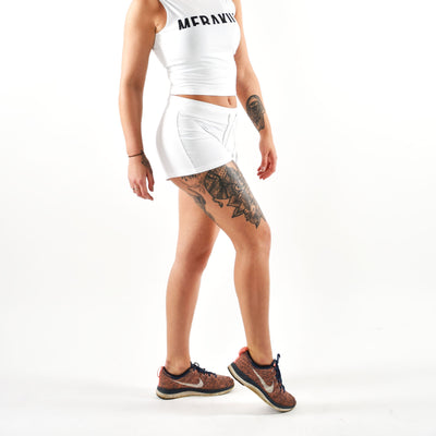 Tops - Merakilo High Neck Crop Vest - White