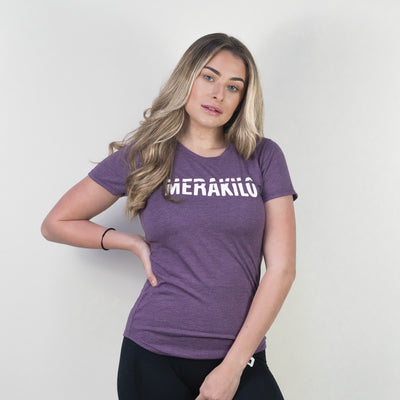 Merakilo Ladies Blaze T-Shirt - Purple - merakilo