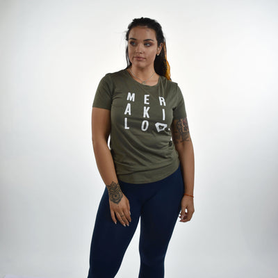 Tops - Merakilo Ladies Gradient T-Shirt - Khaki