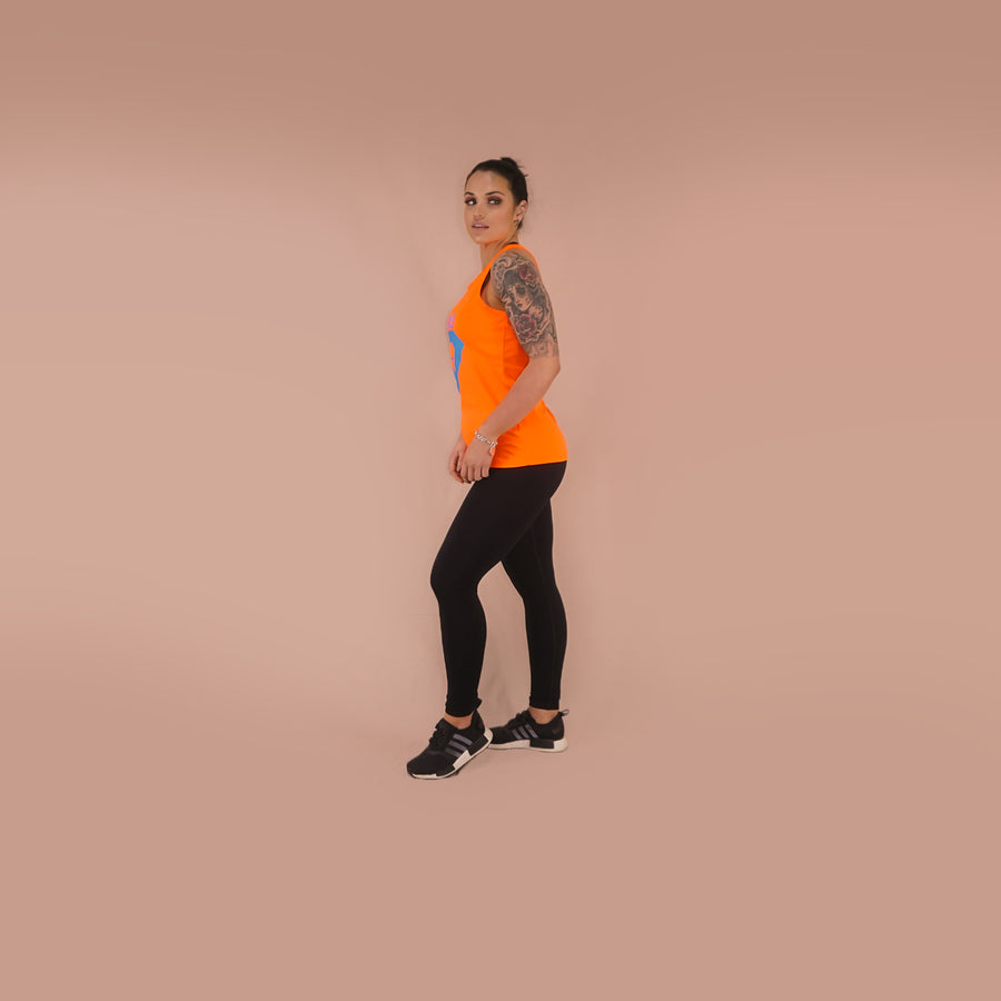 Merakilo Women's FIT Tank - Orange - merakilo