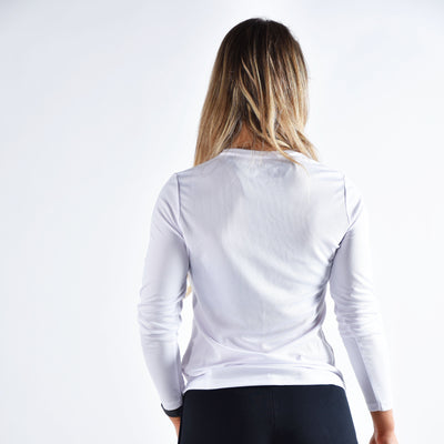 Tops - Merakilo Women's Long Sleeve Core Tee - Artic White