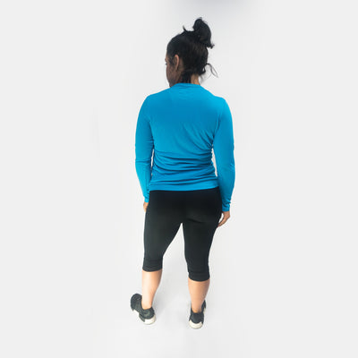 Merakilo Women's Long Sleeve Core Tee - Royal Blue - merakilo