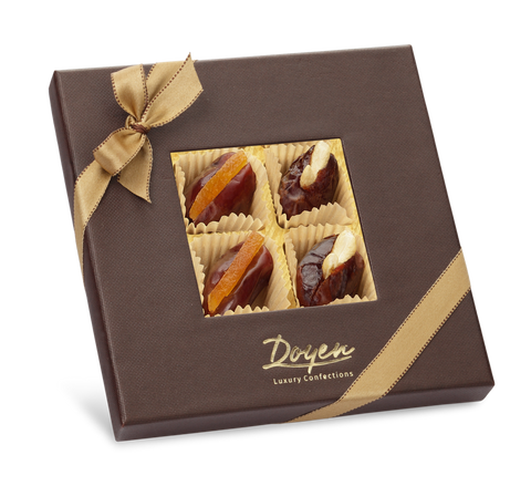 Checkmate Brown Box<br> Assorted Filled Dates