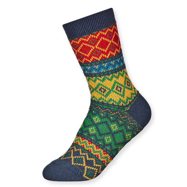 Stylish Warm Winter Thick Geographic Jacquard Knit Micro Crew Quarter Socks - Dani's Choice
