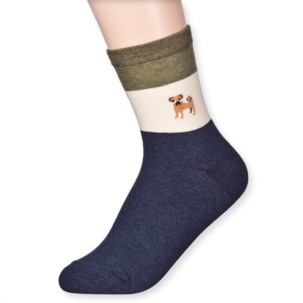 Standing Pet Dog Character Casual Micro Crew Quater Socks - Dani's Choice