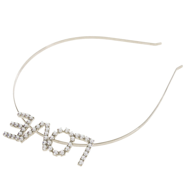 Artificial Pearl LOVE Steel Headband - Dani's Choice