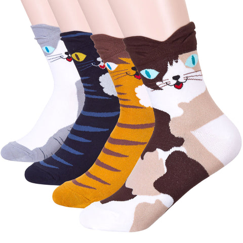 Colorful Eyes Cat Socks