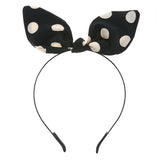Retro Polka Dot Pointed Ribbon Headband
