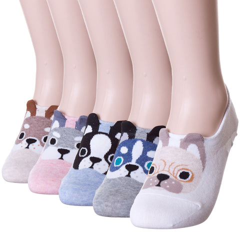 Puppy Dog Low Cut Shoe Liner Hidden Socks Peds