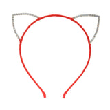 Rhinestone Cat Ear Candy Color Headband