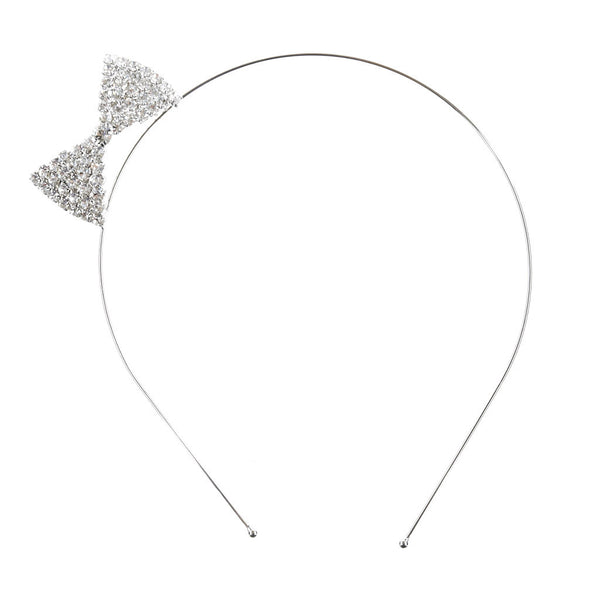 Lovely Rhinestone Ribbon Steel Headband