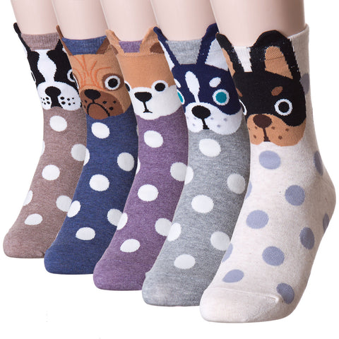 Snowlike Dot Puppy Dog Socks