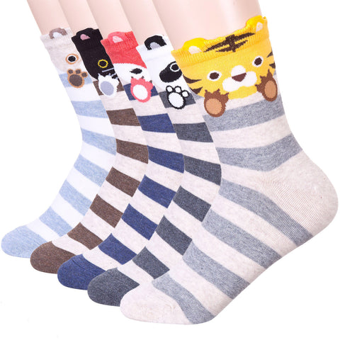Stripe Bye Bye Animal Socks