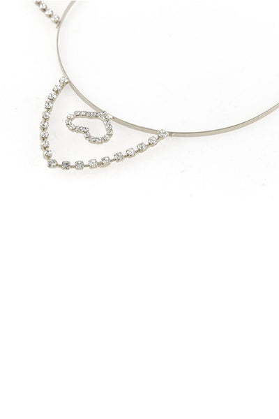 Inner Heart Rhinestone Cat Ear Steel Headband - Dani's Choice