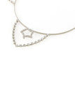 Inner Star Rhinestone Cat Ear Steel Headband