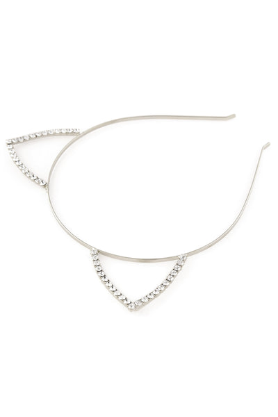 Rhinestone Cat Ear Steel Headband - Dani's Choice