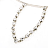 Rhinestone Rabbit Ear Steel Headband