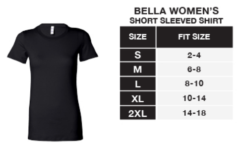 Sizing Chart - Bella Womens Shirt – Boutiques On Broadway
