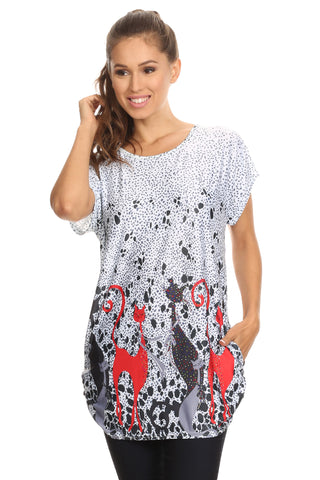 MOST VERSATILE CUTE Designer Tunic Top Blouse