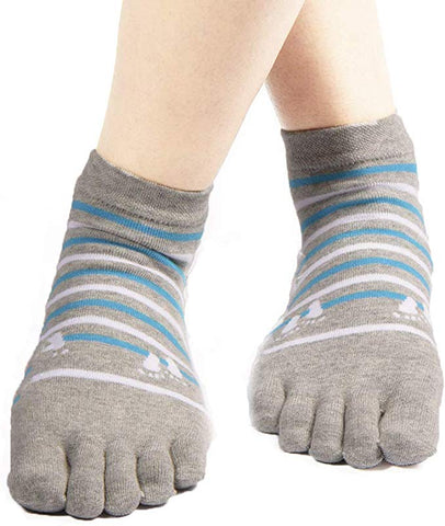 LuxFeet Five 5-Toe Sock Yoga Pilates Flipflop