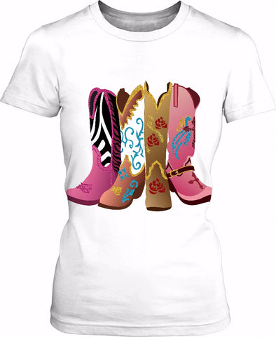 These Boots Are Made For Wearing Tee Shirt
