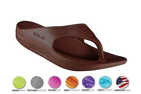 Telic Unisex VOTED BEST COMFORT SHOE Arch Support Recovery Flipflop Sandal +BONUS Pumice Stone $45 Value - Boutiques On Broadway - 4