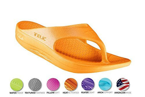 Telic Unisex VOTED BEST COMFORT SHOE Arch Support Recovery Flipflop Sandal +BONUS Pumice Stone $45 Value - Boutiques On Broadway - 8