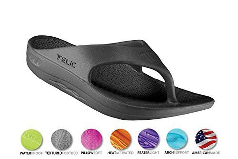 Telic Unisex VOTED BEST COMFORT SHOE Arch Support Recovery Flipflop Sandal +BONUS Pumice Stone $45 Value - Boutiques On Broadway - 6