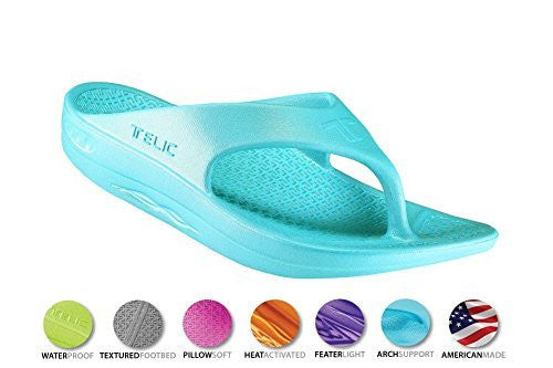 4ea5a43082e6 ... Telic Unisex VOTED BEST COMFORT SHOE Arch Support Recovery Flipflop  Sandal +BONUS Pumice Stone  45 ...