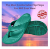 Image of Unisex ArchSupport Flipflops | Pain Relief Comfort Technology BLACK