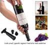 Image of WINE SAVER VACUUM PUMP PRESERVER & STOPPERS SET BUNDLED WITH SILICONE TOTE & WINE CHARMS BY BD